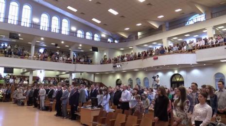 Праздник Пятидесятницы отметили в церкви «Благодать» г. Минска