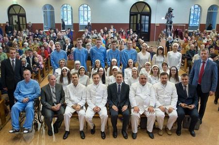 В церкви прошло третье крещение за год