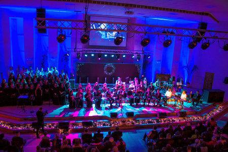Хор и группы прославления церкви «Благодать» участвовали в евангелизационном концерте