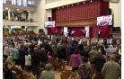 Линейка воскресной школы и молитва благословения учащихся